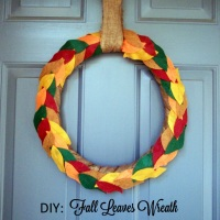 DIY: Fall Leaves Wreath