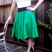 31 Days: The Thrift Project - Day 2: Vintage Skirt Refashion