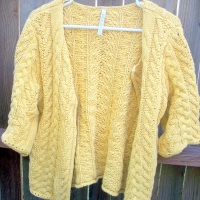 31 Days: The Thrift Project - Day 12: Mustard Cardigan