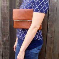 31 Days: The Thrift Project - Day 9: Leather Clutch