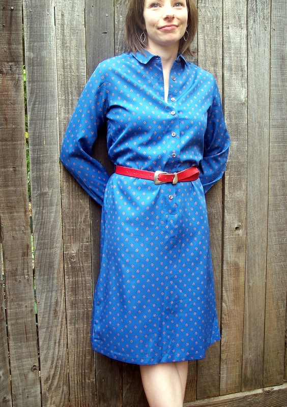 vintage paisley shirt dress