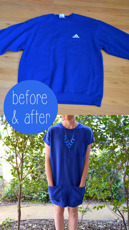 blue adidas sweatshirt to dress2