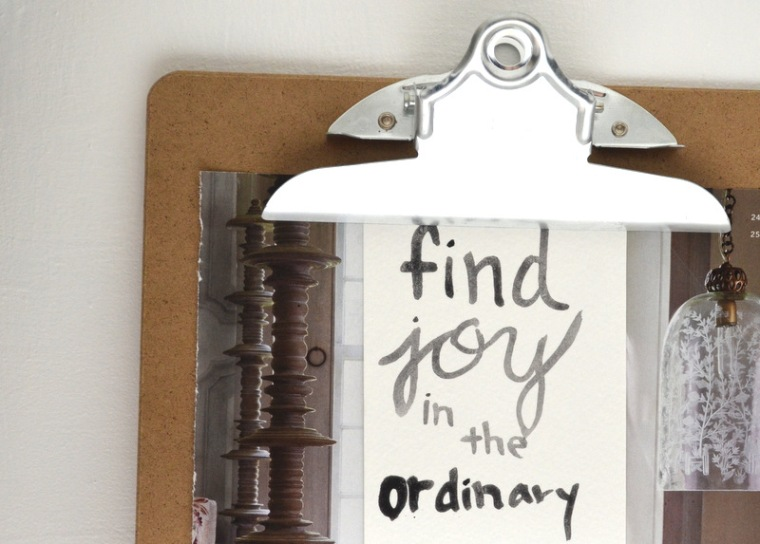 find joy in the ordinary clipboard