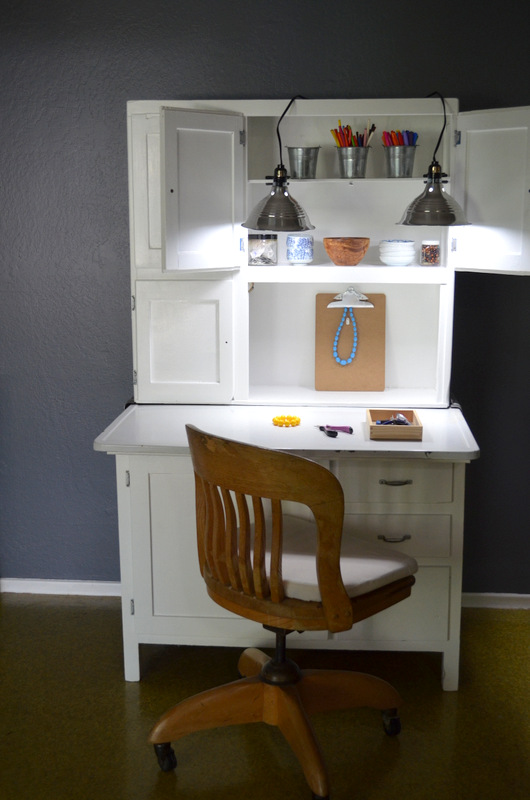 hoosier cabinet workspace lights