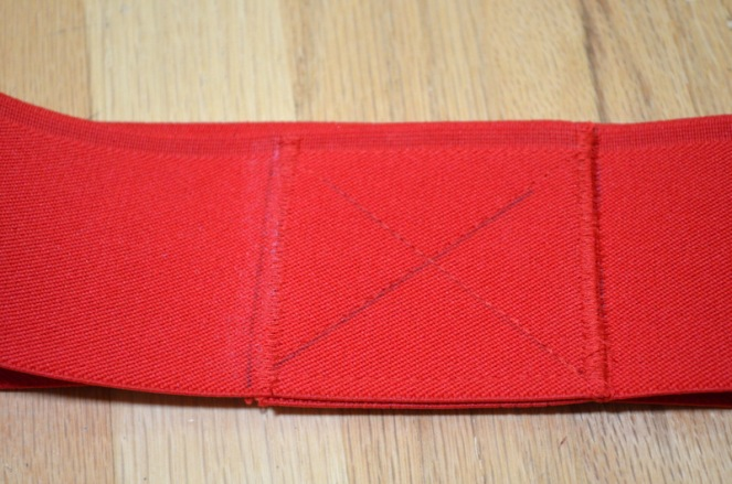 red elastic waistband