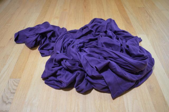 purple knit fabric