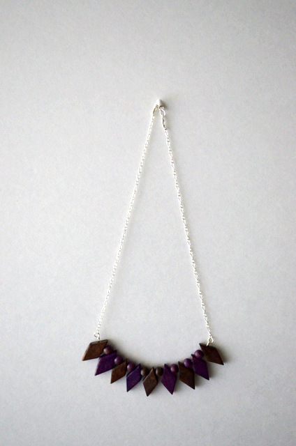 Purple Harlequin Necklace