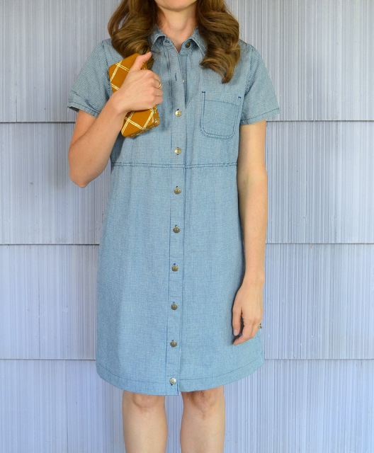 hemmed blue prairie dress