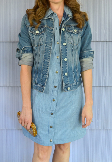 blue prairie dress denim jacket