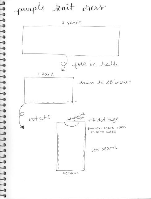 simple knit dress pattern