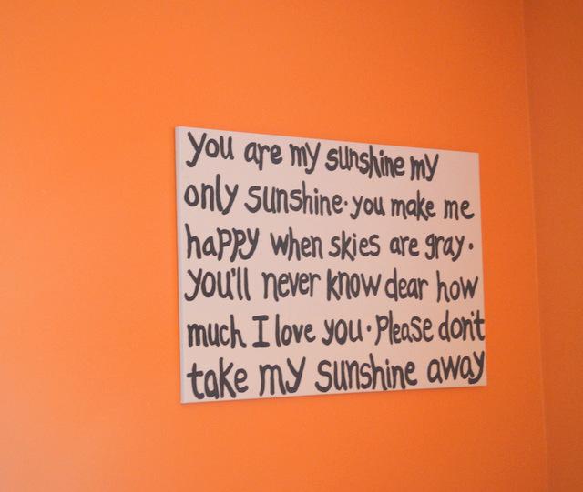 orange you are my sunshine