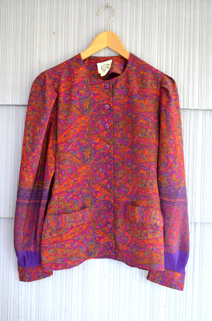 vintage purple paisley