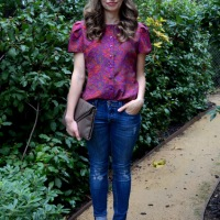 31 Days: Color - Day 30: Purple Paisley Blouse