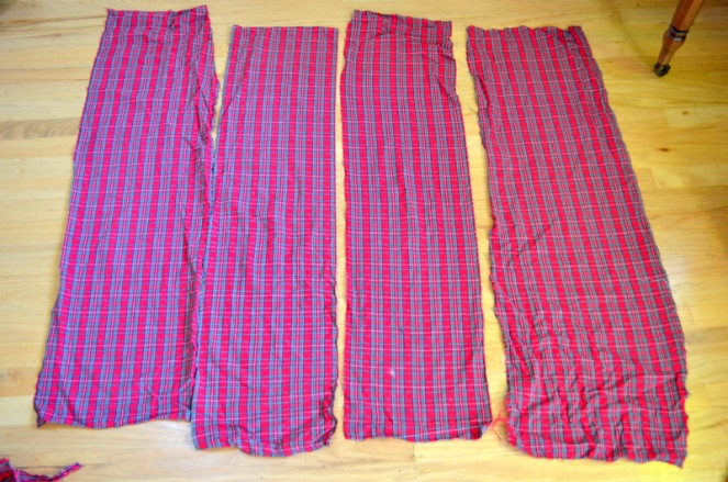 DIY plaid scarf from PJs