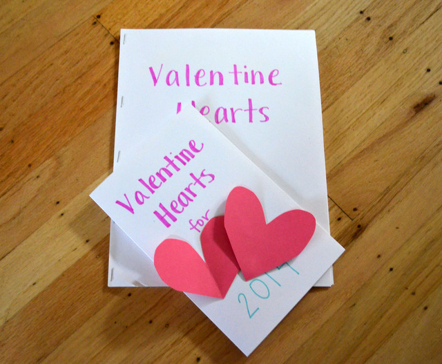 Valentine hearts book