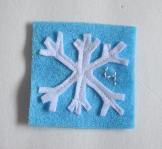 applique snowflake