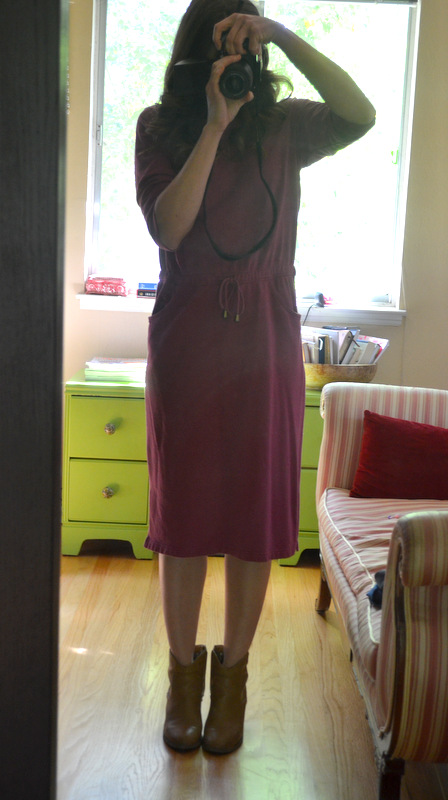 thrifted dress- before