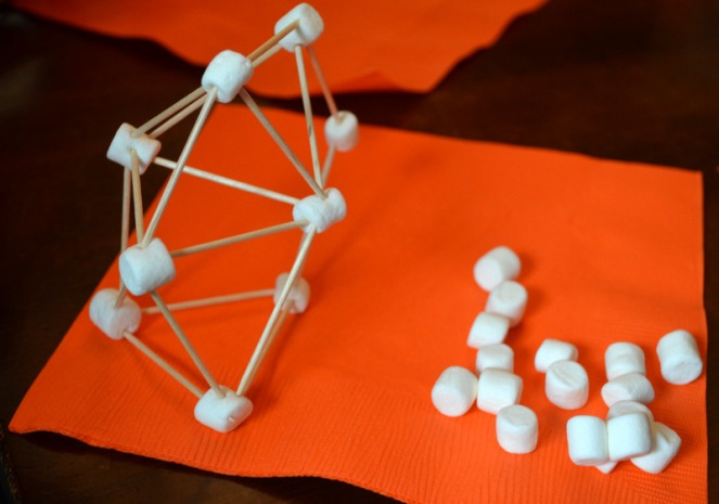 Building Big Party: building with marshmallows