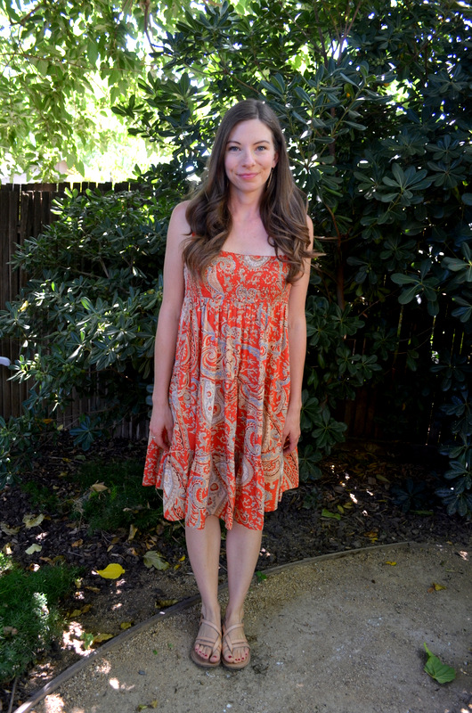 orange house dress