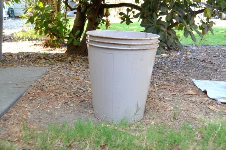 vintage trash cans