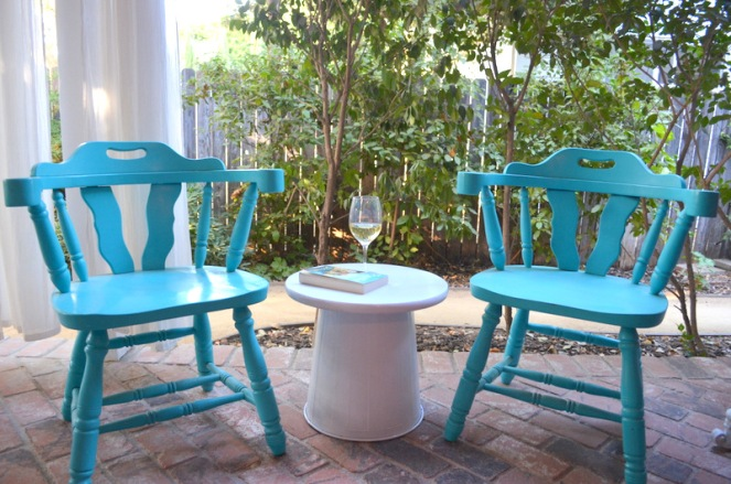 back porch table wine