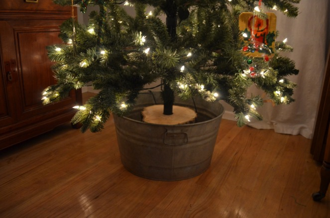 christmas tree galvanized tub