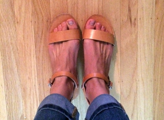Greek sandals from Etsy