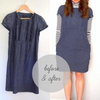 Before & After: Denim Dress Makeover