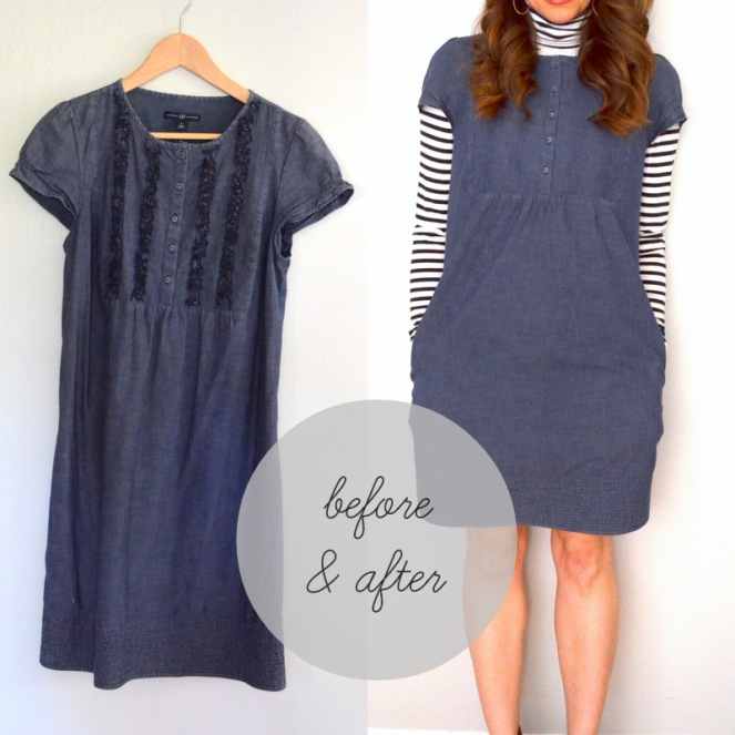 denim dress makeover
