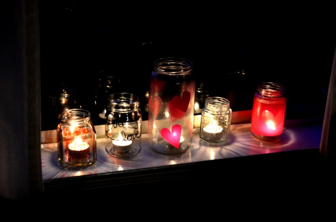 DIY Jar Tea Light Candle Holders