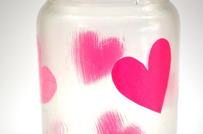 tissue paper jar candle holder