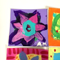 Class Art Project: Abstract Flower Garden