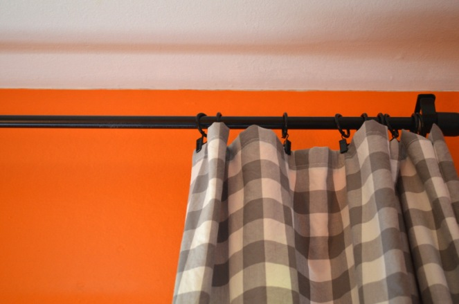 gray buffalo check curtains